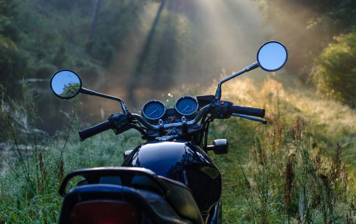 Motorcycle in the morning